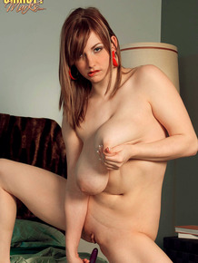 Solo girl Christy Marks whips out her huge hanging boobs during live cam show