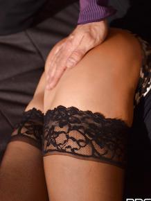 Submissive Euro slut Satin Bloom submits to master's BDSM fantasies