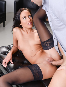 Tall secretary Lexi Layo riding her boss's hard dong after meeting