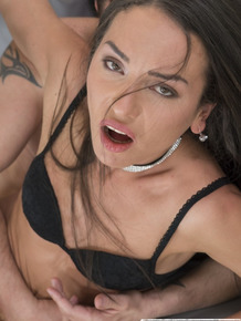 Model Nataly Gold choked by photographer while anal banging at casting call