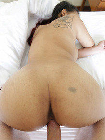 Big boobed Asian babe sucks cock before getting her hairy pussy fucked hard