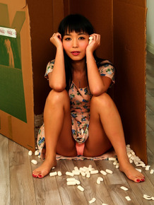Lovely Japanese pornstar Marica Hase gets her trimmed muff fingered & nailed