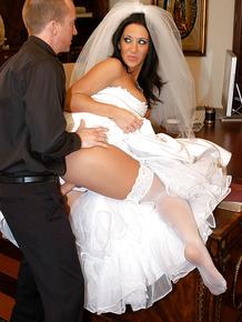 Jayden Jaymes has her pussy fucked hardcore in a wedding dress