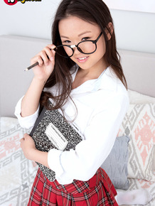 18 year old Asian schoolgirl Lulu Chu gets undressed after classes are out