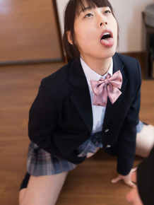 Japanese schoolgirl fucks her stepfather after he catches her masturbating