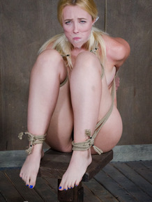 Bondage girl Samantha Rone sheds tears in painful rope torture session