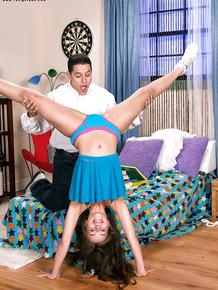 Teen cheerleader reality sex scene with little Sophia Sutra