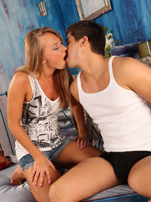 College girl and her boyfriend can't resist the urge to fuck each other