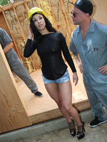 Construction takes halt while Teanna Trump is taking care of their boners