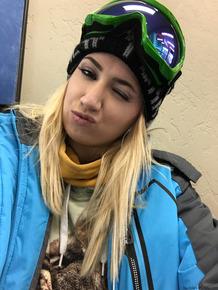Blonde teens with nice smiles Kristen Scott & Sierra Nicole take to ski slopes