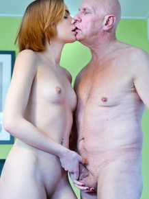 Young redhead pays for her college education by fucking her sugar daddy