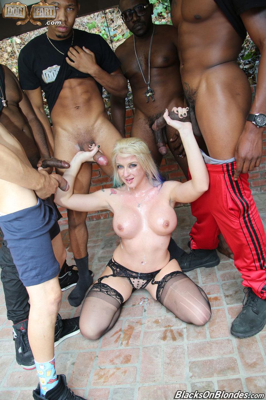 Blacks On Blondes Gangbang