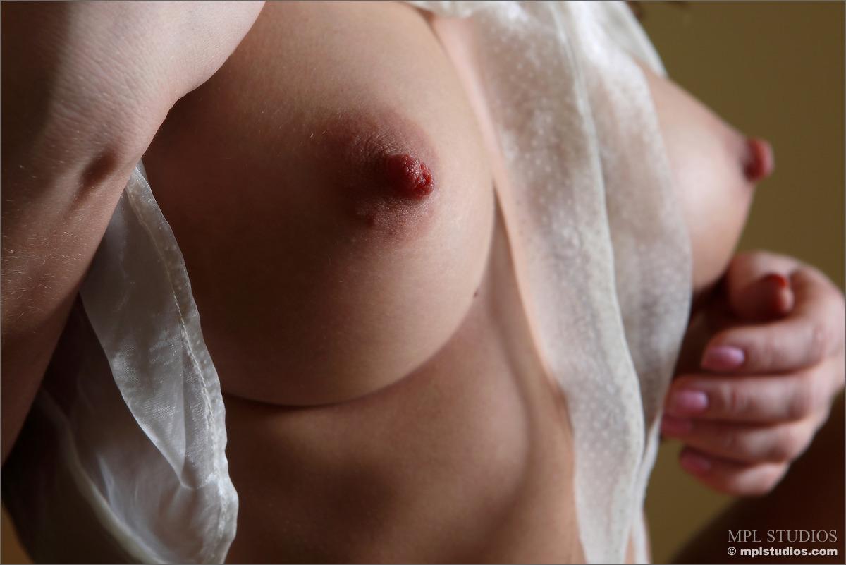 Hard nipples during sex