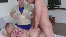 Light-complexioned Teen Nipper Punished At the end of one's tether Latina Mom- Paisley Bennett