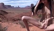 Eroberlin Zoe Rush skinny teen alfresco pissing Guidepost Valley throb hair cutie