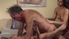 Old loves raunchy sex with nubile
